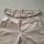 激短時間で、普通のズボンからマタニティズボンを作ってみた。