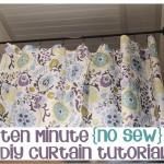 カーテンを手作りしよう!アイディア6つ—縫わない方法も紹介するよ。