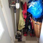 オムツの箱再利用で、玄関収納を快適にする。
